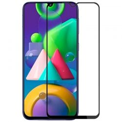 5D Стъклен протектор Hard Glass Full Glue Cover за Samsung M215 Galaxy M21, Черен