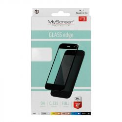 Стъклен протектор MyScreen Lite Glass Edge Full Glue за Samsung A726 Galaxy A72 5G, Черен
