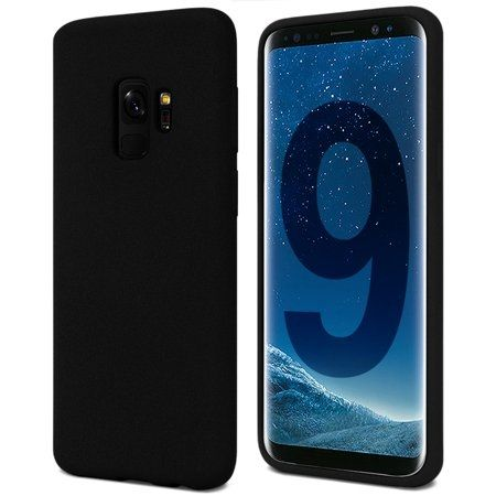 Луксозен гръб Mercury Goospery Soft Feeling за Samsung Galaxy S9, Черен