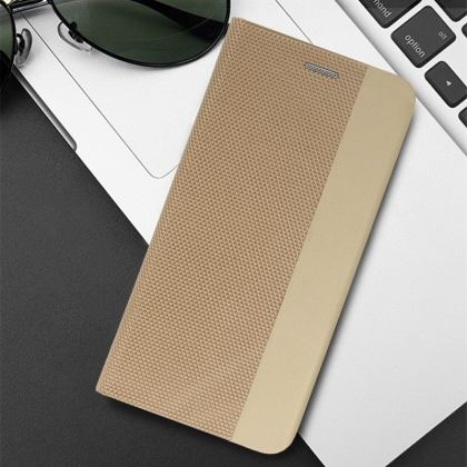 Калъф Flip Book Vennus Sensitive за IPhone 11, Златен