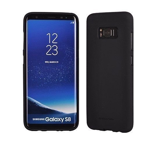 Луксозен гръб Mercury Goospery Soft Feeling за Samsung Galaxy S8, Черен
