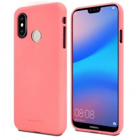 Луксозен гръб Mercury Goospery Soft Feeling за Huawei P20 Lite, Розов