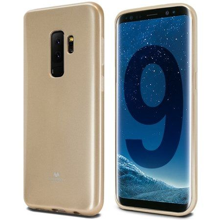 Луксозен гръб Jelly Mercury Goospery за Samsung G965 Galaxy S9 Plus, Златен