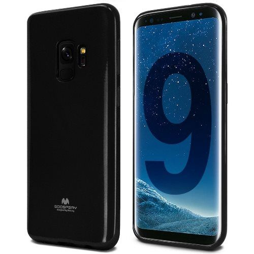 Луксозен гръб Jelly Mercury Goospery за Samsung G965 Galaxy S9 Plus, Черен