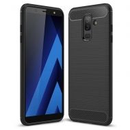 Anti Shock гръб Carbon за Samsung A605 Galaxy A6 Plus 2018, Черен
