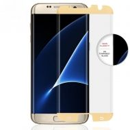 3D Стъклен протектор Full Cover за Samsung Galaxy S7 Edge, Златен