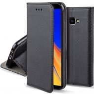 Кожен калъф Flip Book Smart за Samsung J415 Galaxy J4 Plus 2018, Черен