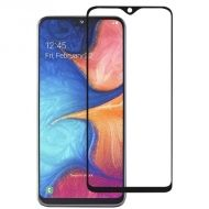 5D Стъклен протектор Hard Glass Full Glue Cover за Samsung A202 Galaxy A20e, Черен